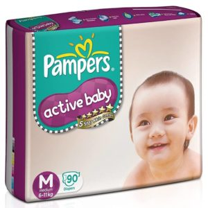 Pampers Active Baby New Born Diapers in India