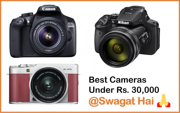 best dslr, mirrorless, point and shoot camera under 30,000