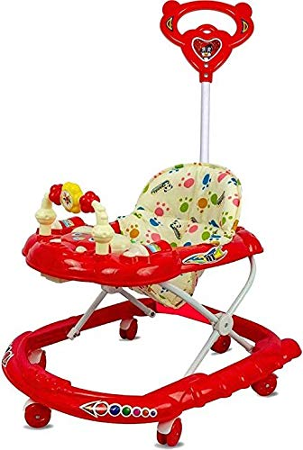 Buy Goyal's Cartoon Baby Adjustable Walker - Music & Rattles with Parental Handle in India