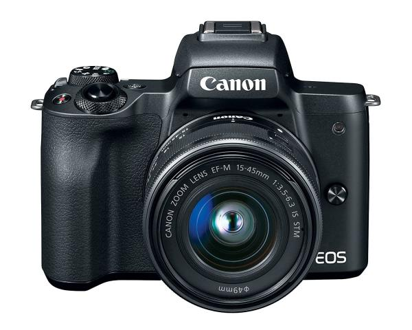Buy Canon EOS M50 24.1MP Mirrorless Camera (Black) with EF-M 15-45 is STM Lens Under 50,000 in India