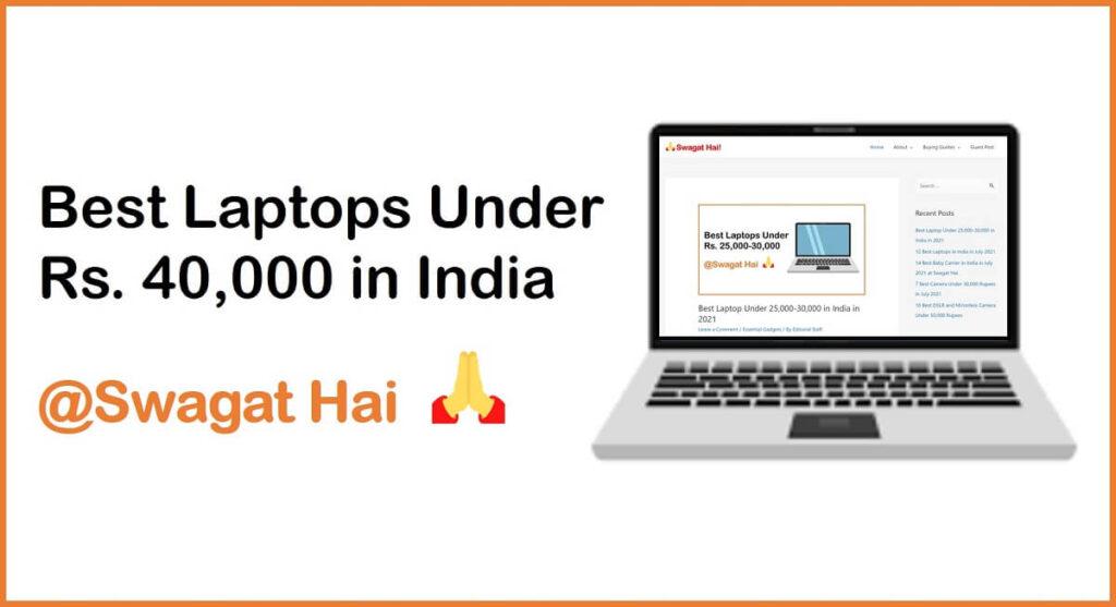 best laptop under rs 40000
